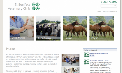 St.Boniface Veterinary Clinic homepage