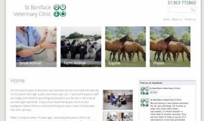 St.Boniface Veterinary Clinic homepage
