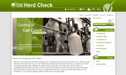 Grassroots Herd Check home page