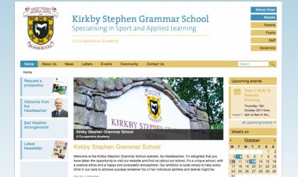 Kirkby Stephen Grammar School website home page