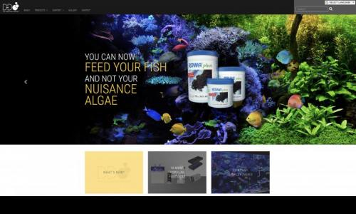 D&D The Aquarium Solution home page