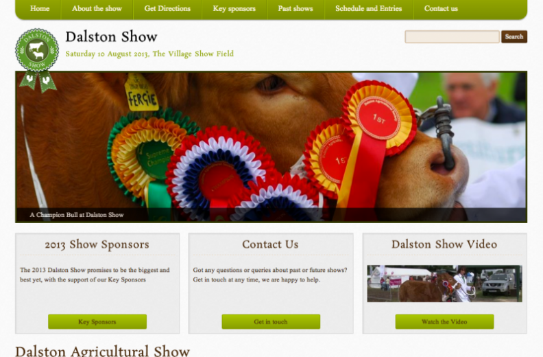 Dalston Show home page
