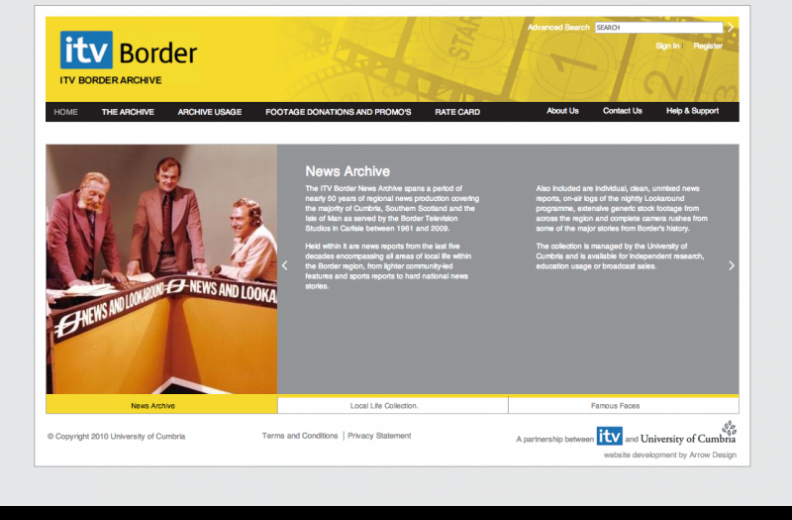 ITV Border Archive home page