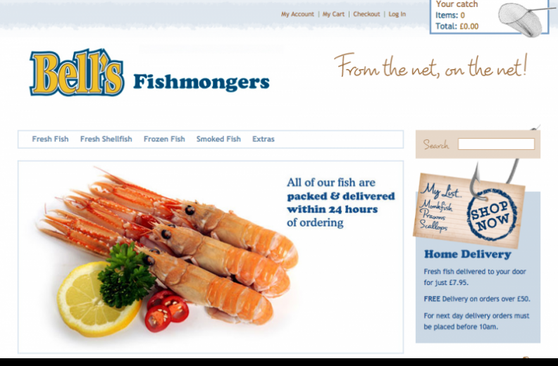 Bell's Fishmongers home page