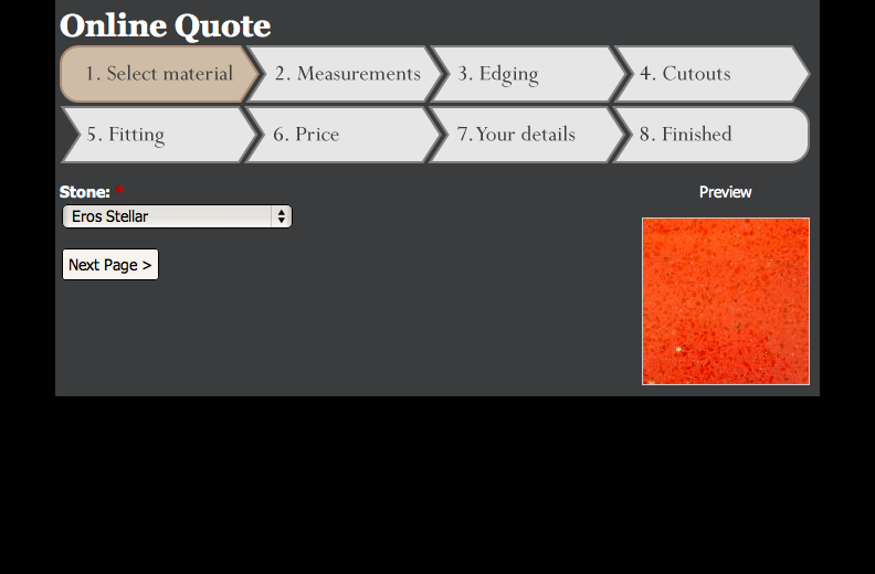 Lakeland Granite - Online quote system