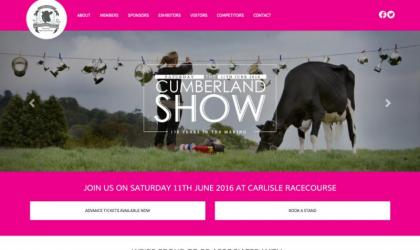 Screen shot of the Cumberland Show home page